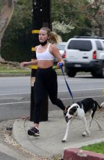 Ava Phillippe Jogging with her dog in LA