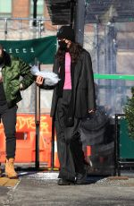 Bella Hadid Takes a walk on a beautiful day in New York