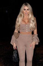 Bianca Gascoigne Seen leaving a studio after a photoshoot in London