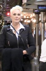 Brigitte Nielsen Seen with her husband at Il Pastaio in Beverly Hills