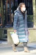 Britt Robertson Grabs some essentials after completing quarantine in Vancouver