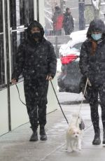 Camila Mendes & Madelaine Petsch Walking their dogs in a Vancouver