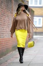 Caprice Bourret Seen leaving the Goowoo Media offices in London