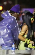 Cardi B Looks stylish as she arrives at Super Bowl LV in Tampa, Florida