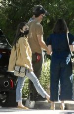 Charlie McDowell & Lily Collins Are seen out visiting friends in Pasadena