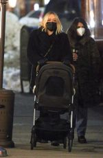 Chloe Sevigny Was seen pushing her baby in a stroller after having dinner with friends at Sant Ambroeus in SoHo