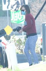 Christina Ricci Was seen filling up her car with gas in Calabasas