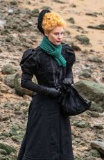 Claire Danes On the set of The Essex Serpent in London