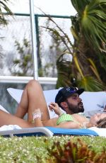 Corinne Olympios Seen at the pool in Miami Beach