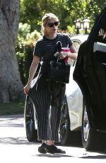 Emma Roberts Travels across town to visit a friend in Los Angeles
