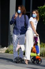 Emma Watson Out in a knee scooter in Los Angeles