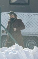 Gillian Anderson On the set of