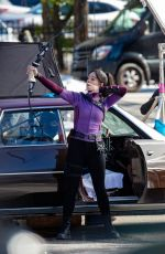 Hailee Steinfeld Filming scenes for Hawkeye in New York