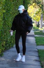 Hailey Bieber Leaves a pilates class in West Hollywood