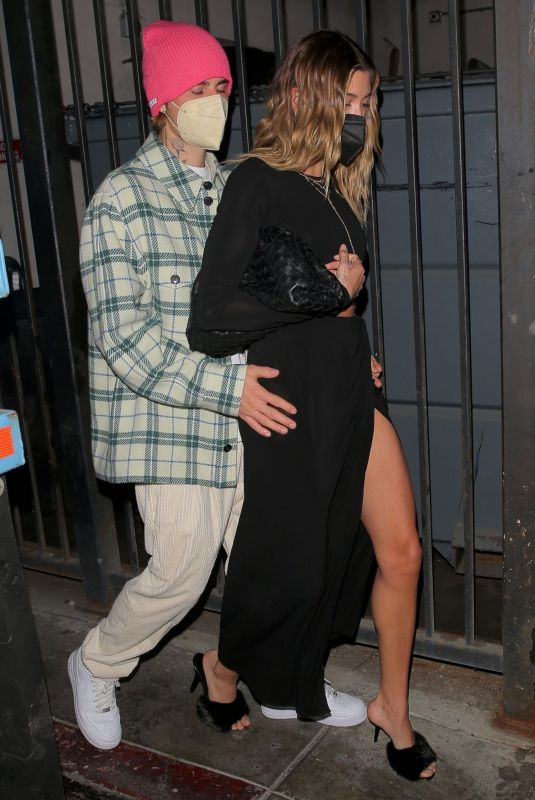 Hailey Bieber Leaving Catch in West Hollywood