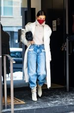 Hailey Bieber Leaving her hotel in NY