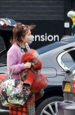 Helena Bonham Carter Arrives at a studio in South London