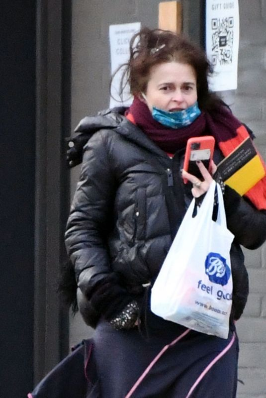 Helena Bonham Carter Is spotted running errands while out and about in North London