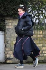 Helena Bonham Carter out for a walk in North London