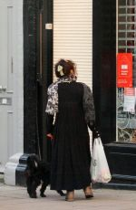 Helena Bonham Carter Spotted running errands with her pup and partner Rye Dag Holmboe while out in London