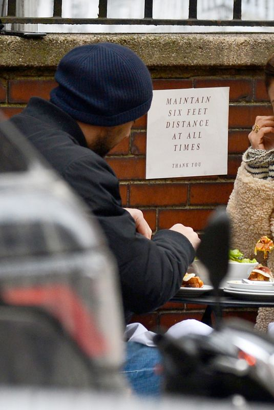 Helena Christensen Out for a brunch date with a mystery man in New York C