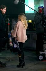 """Hilary Duff Filming a scene for """"Younger"""" outside Madison Square Garden in Manhattan"""