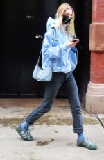 Hunter Schafer Steps out for a walk in Soho