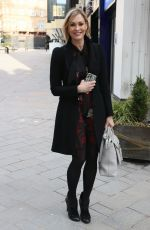 Jenni Falconer Steps out from Smooth radio on her Birthday in London
