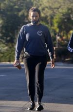 Jennifer Garner Takes a morning walk with a friend in Brentwood