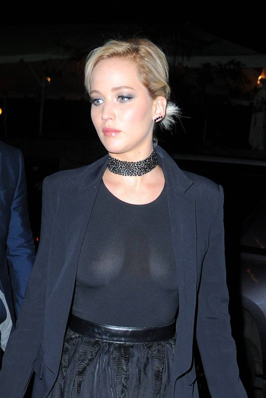 Jennifer Lawrence In Black sheer outfit out in Manhattan