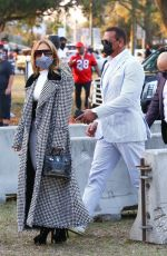 Jennifer Lopez Seen arriving at the Super Bowl in Tampa