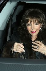 Joan Collins Out for dinner at Craig