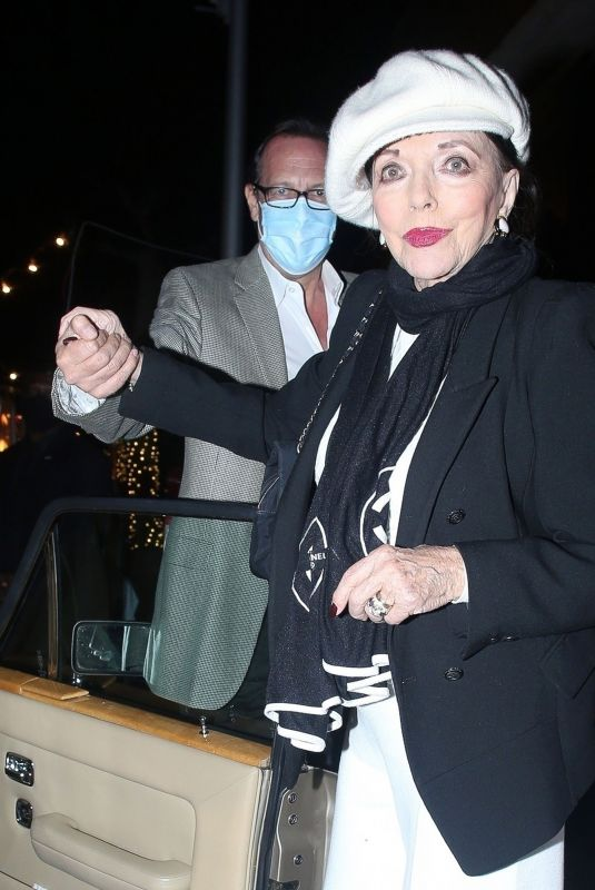 Joan Collins Seen leaving dinner with her husband in Los Angeles