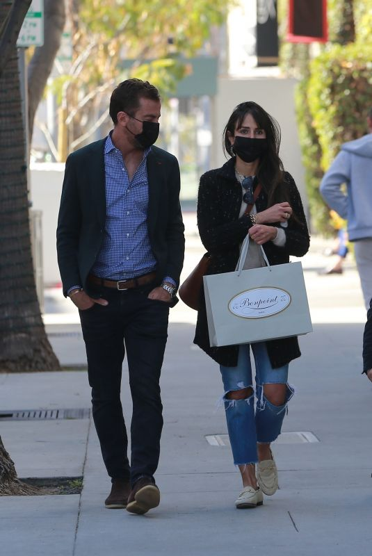 Jordana Brewster Shopping on Rodeo Dr. in Beverly Hills