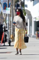 Jordana Brewster Steps to do a little shopping in Brentwood