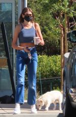 Kaia Gerber Out with her dog in Malibu