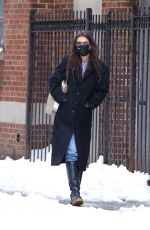Katie Holmes Braves the snow in NYC