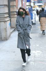 Katie Holmes Steps out for a solo walk on Valentine