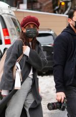 Katie Holmes Taking pictures out in NYC