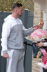 Katie Price Seen with her boyfriend outside her house in London