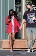Keke Palmer Grabs coffee with her boyfriend at Blue Bottle in West Hollywood