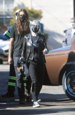 Kelly Osbourne And her boyfriend Erik Bragg visit a repair shop in Burbank to check on her classic car