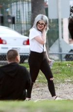 Kelly Osbourne Seen with her boyfriend at a park in Los Angeles