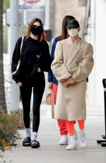 Kendall Jenner and Hailey Bieber out in West Hollywood