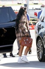 Kylie Jenner Jets off for the weekend on her private jet in Los Angeles