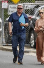 Kylie Minogue Steps out with her father in Melbourne, Australia