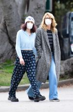 Laura Dern Out in Brentwood with her daughter