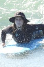 Leighton Meester Hits the waves in Malibu