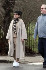 Lily Allen All smiles on a walk with Harry Enfield through Hampstead