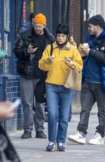 Lily Allen Out walking with friends around West London